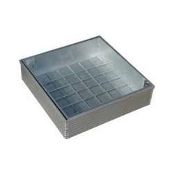 Klinkerdeksel 80 x 80 x 8 aluminium