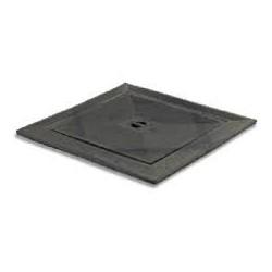 Gietijzer deksel met enkele bodem 50 x 50 cm