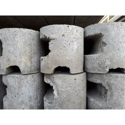 BETONPAAL grijs gleuf of rabat 80 cm met hoek