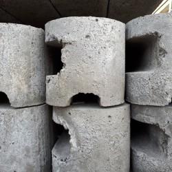 BETONPAAL grijs gleuf of rabat 220 cm met hoek
