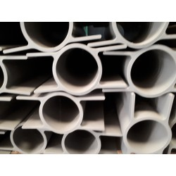PVC betonplaathouder dubbel rond dia 60