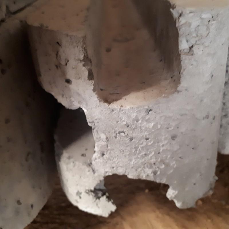 BETONPAAL grijs 3 gleuven 80 cm
