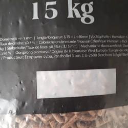 Houtpellets bruin per 15 kg